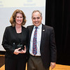 Eileen Kennedy with President Ángel Cabrera at the 2016 Outstanding Achievement Awards.  Photo by:  Ron Aira/Creative Services/George Mason University
