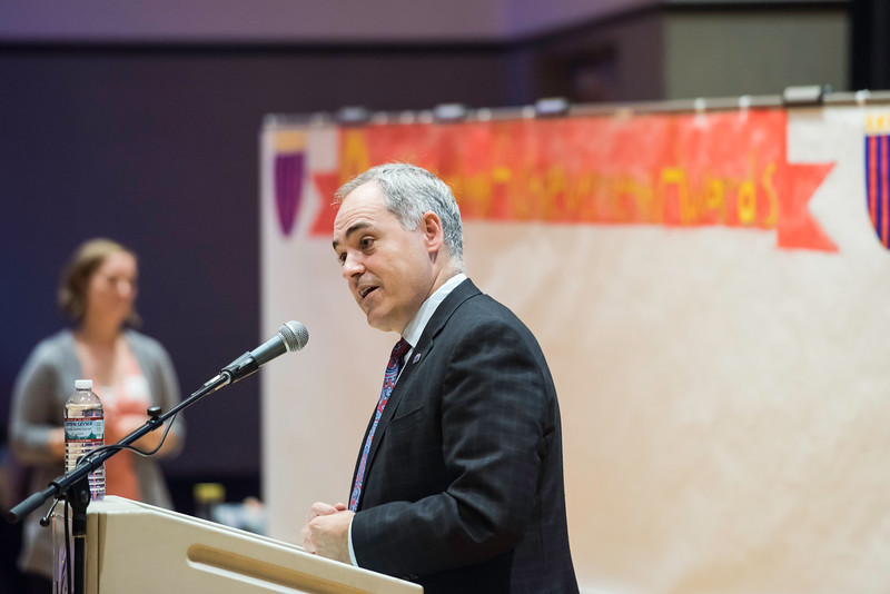 Ángel Cabrera at the 2016 Outstanding Achievement Awards.  Photo by:  Ron Aira/Creative Services/George Mason University