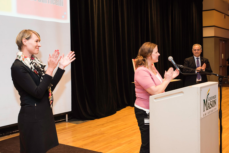 Jade Barricelli and Terry Bevilacquai.  Photo by:  Ron Aira/Creative Services/George Mason University