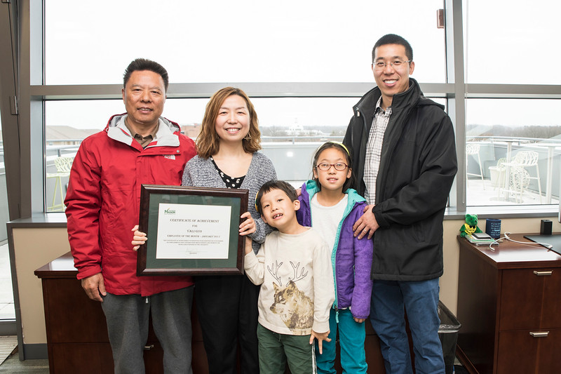 Yali Guo, AP Accountant, Purchasing and Accounts Payable, is the Employee of the Month for January 2017.   Photo by:  Ron Aira/Creative Services/George Mason University