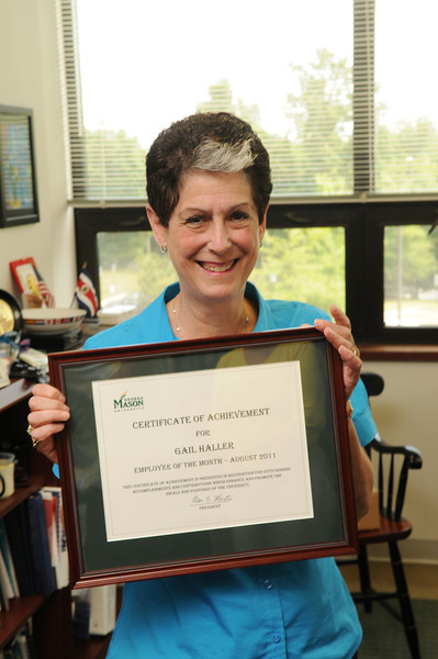 Employee of the Month, Gail Haller, Administrative Assistant, Dean's Office, CEHD