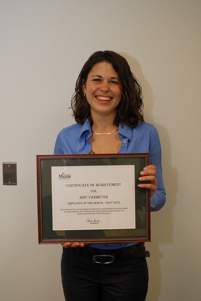 Amy Vanmeter named EOTM for May 2009.