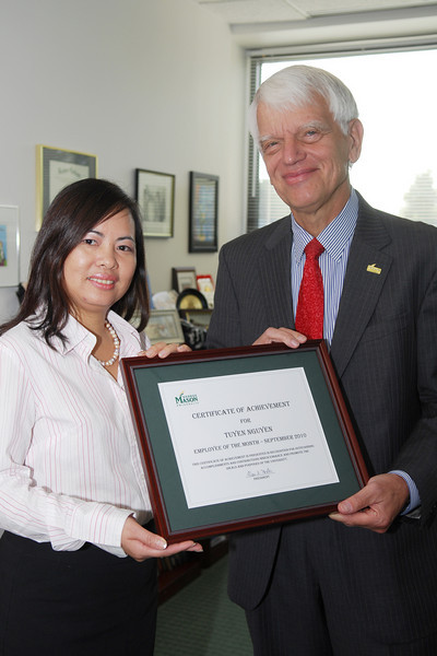 Tuyen Nguyen, senior fiscal technician for Purchasing and Accounts Payable, is September's Employee of the Month.