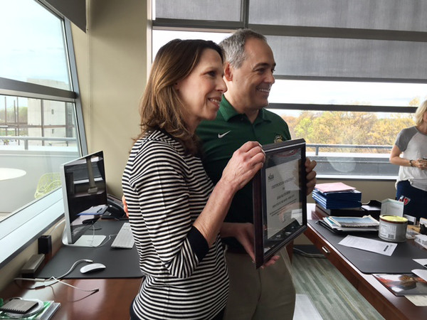 Joan Mlotkowski is the Employee of the Month for April.  Photo by Beth Baroody.