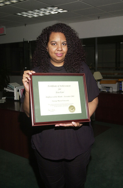 Lisa Carr - Employee of the Month - November 2001