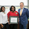 Tracy Williams, is the Employee of the Month for November 2017.  Photo by:  Ron Aira/Creative Services/George Mason University