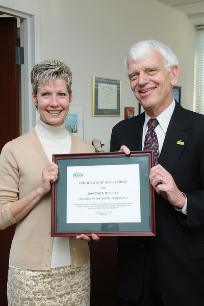 Employee of the Month Bobbie Merritt, Human Resources and Payroll