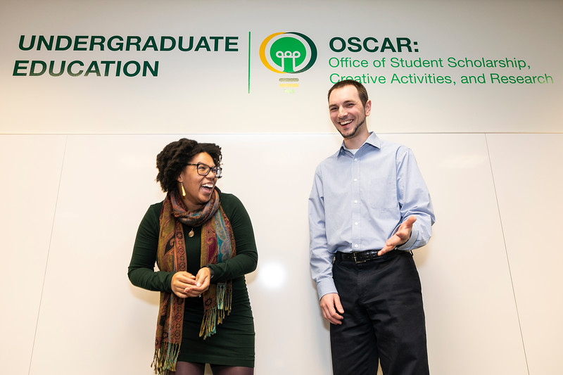 Jasmyne Rogers, Anthony DeMaio.  Photo by:  Ron Aira/Creative Services/George Mason University