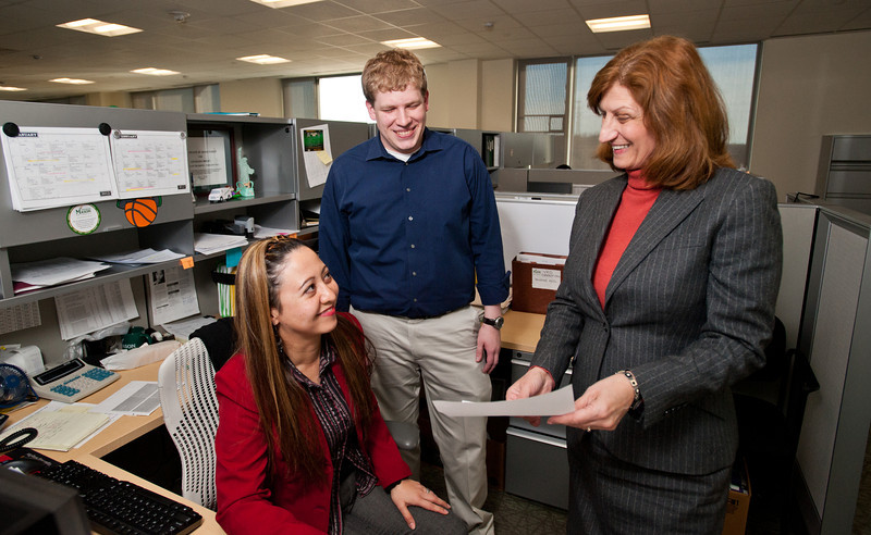 Human Resources Payroll and HRIS team. Photo by Alexis Glenn/Creative Services/George Mason University