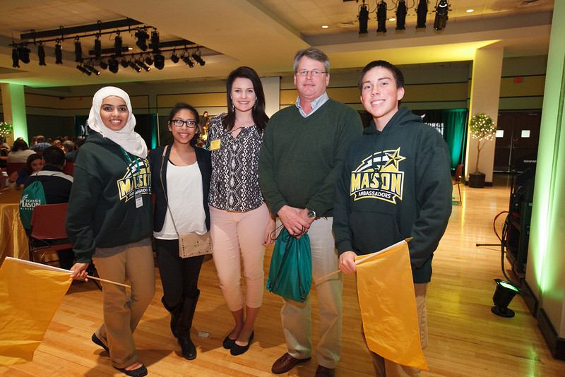 Parents and students attend the annual Pathway to the Baccalaureate program, where they learn about the Honors College program and opportunities from Mason representatives, have a meet and greet lunch with Honor College professors, and take a tour of the Mason campus. Photo by Will Martinez/Creative Services/George Mason University