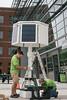 Solar charging station installation