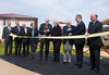 Wayne Clough, Secretary of the Smithsonian Institution, Adrienne Mars, G.T. Halpin and President Angel Cabrera cut the ceremonial ribbon at the Smithsonian-Mason School of Conservation Facility Dedication Ceremony at Front Royal, Virginia on October 18, 2012.