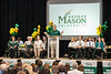 President Ángel Cabrera speaks at the New Student Convocation at the Patriot Center. Photo by Alexis Glenn/Creative Services/George Mason University