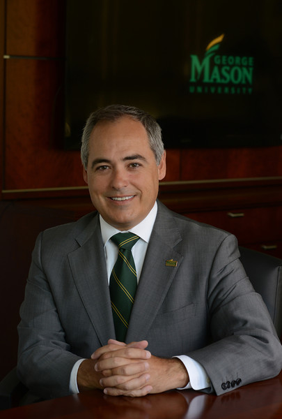 President Ángel Cabrera. Photo by Evan Cantwell/Creative Services/George Mason University