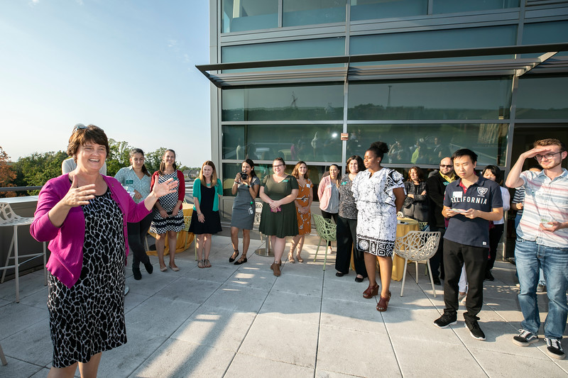 President's Open House for International students.  Photo by:  Ron Aira/Creative Services/George Mason University