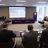 Capital Region College and University Presidents meet for a panel discussion at the University at Albany Campus Center Boardroom on Monday, November 19, 2018. (photo by Patrick Dodson)