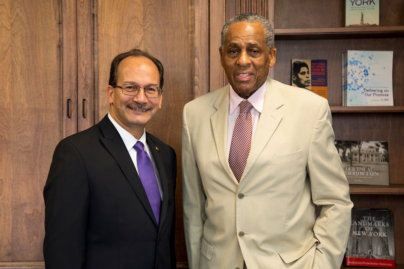 President Rodriguez with Chairman McCall