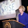 SUNY Chancellor Kristina M. Johnson speaks at the RISE 2019 Conference. (Photo: Patrick Dodson)