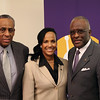 Dr. Robert J. Jones makes his first official visit to UAlbany before assuming his role as university president. Photographer: Paul Miller