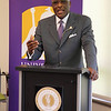 Dr. Robert J. Jones makes his first official visit t UAlbany before assuming his role as university president. Photographer: Paul Miller