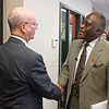 Dr. Robert J. Jones meets with community and business leaders in Saratoga County. Photographer: Paul Miller