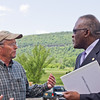 Dr. Jones meets with business and community leaders in Schoharie County. Photographer: Paul Miller