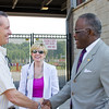 Dr. Robert J. Jones visits with community and business leaders on his tour of Rensselaer County. Photographer: Paul Miller