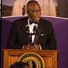 As part of Celebrate and Advance week, a black tie dinner was help with the proceeds from the event going to support The University at Albany Foundation's   Campaign for Students, which supports student programs and our ability to ensure access   to the finest higher education experience possible.  President Robert Jones and his wife, Dr. Lynn Hassan Jones, gave a gift of $100,000 towards the scholarship campaign. Photographer: Paul Miller