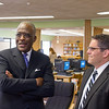 Dr. Robert J. Jones meets with students and administrators at Schenectady High School. Photographer: Paul Miller