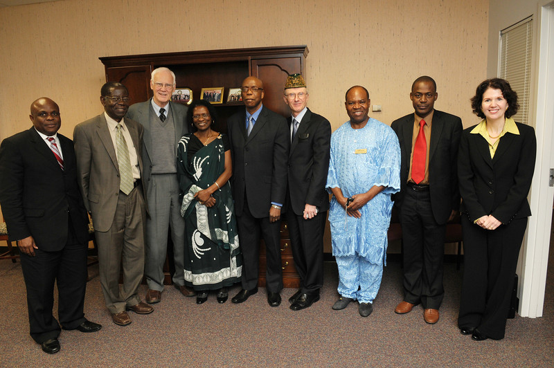 A delegation of administrative leaders from the Federal Republic of Nigeria's National University Commission (NUC), the agency charged with reform and innovation in that country's higher education sector, visited the Fairfax Campus on Nov. 13 to inaugurate a new relationship with Mason and sign a memorandum of understanding (MOU) between Mason and the NUC.
