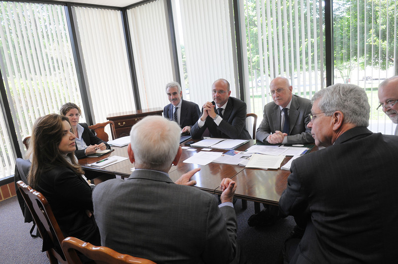Sardinian delegates sign a MOU with George Mason University. MOUs are made with foreign institutions, and the MOU provides a means of forging international relationships. The procedures outlined on this site apply to all MOUs and articulations, but the level of review will depend upon the content of the agreement.