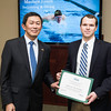 Matthew Lynch. Dr. David Wu presents the 2016 Peter N. Stearns Provost Scholar Athlete Awards.  Photo by Ron Aira/Creative Services/George Mason University