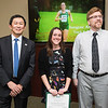 Suzanne Abribat and Dr. Richard Nanian. Dr. David Wu presents the 2016 Peter N. Stearns Provost Scholar Athlete Awards.  Photo by Ron Aira/Creative Services/George Mason University