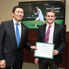 Aaron Capitel. Dr. David Wu presents the 2016 Peter N. Stearns Provost Scholar Athlete Awards.  Photo by Ron Aira/Creative Services/George Mason University
