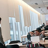Students studying in the library in Founders Hall on the Arlington campus.