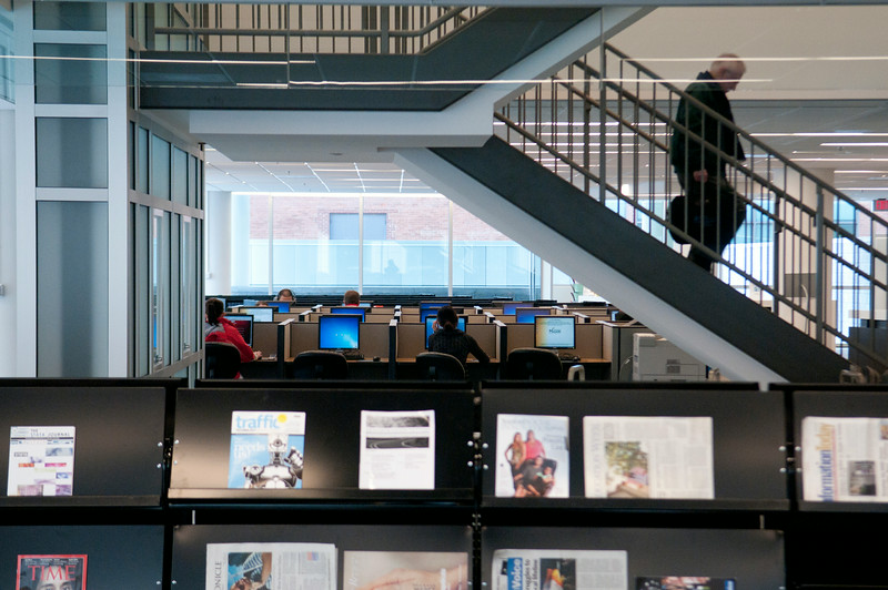 The Arlington campus library located in Founders Hall on the Arlington Campus.