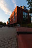 Fenwick Library at sunset. Photo by Ian Shiff/Creative Services/George Mason University
