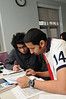 English Language Institute students in class. Photo by Evan Cantwell/Creative Services/George Mason University