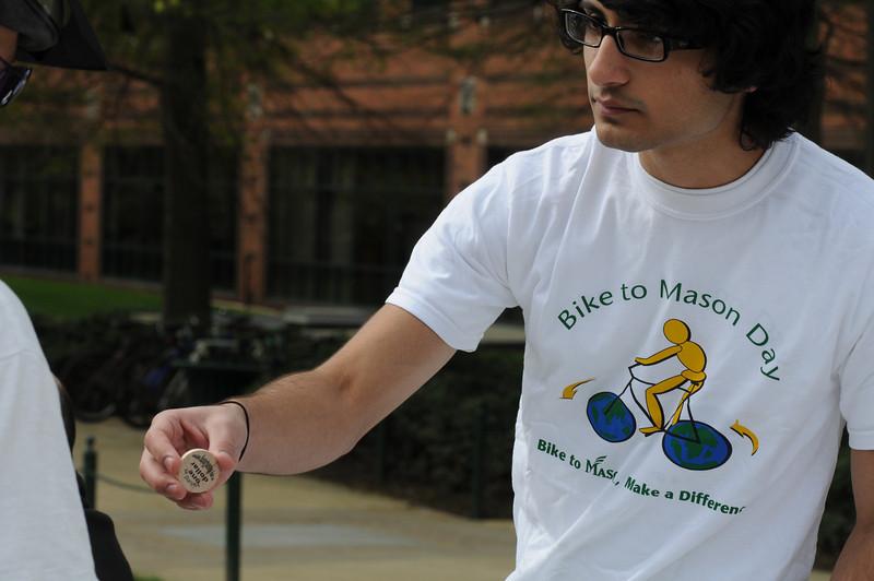 Annual Bike to Mason Day on the Fairfax Campus.