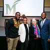 2020 Freedom and Learning Forum: a conversation around the power of symbols, statues, and race in 21st century America, Dr. Wes Bellamy, Dr. Wendi Manuel-Scott, Martha Rollins, and Hon. Levar Stoney.  Photo by:  Ron Aira/Creative Services/George Mason University