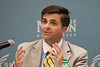 Mark Tooley, President of the Institute on Religion and Democracy, at Pizza and Perspectives, Arlington Campus sponsered by University Life Arlington.  Alexis Glenn/Creative Services/George Mason University