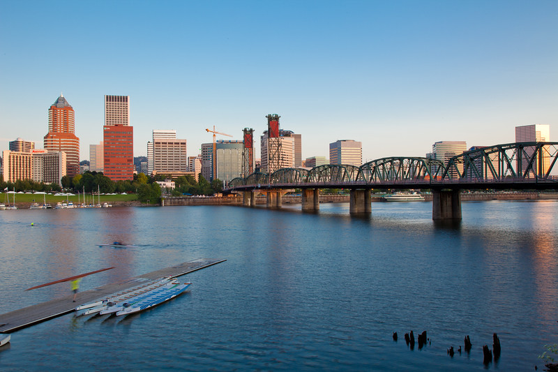 Downtown Portland at Sunrise
