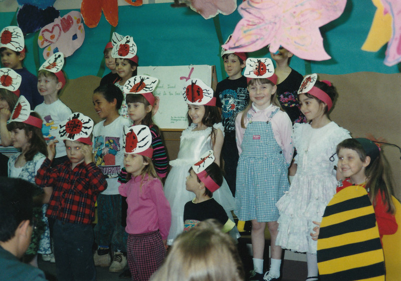 Kindergarten Spring Program ~ Bowman Elementary ~ Mrs. Julie Johnson's class ~ Jinny ~ Anchorage, Alaska ~ May 26, 1994