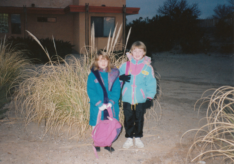 Melissa & Jinny ~ First grade ~ Tombaugh Elementary School ~ Las Cruces, New Mexico ~ January 1995