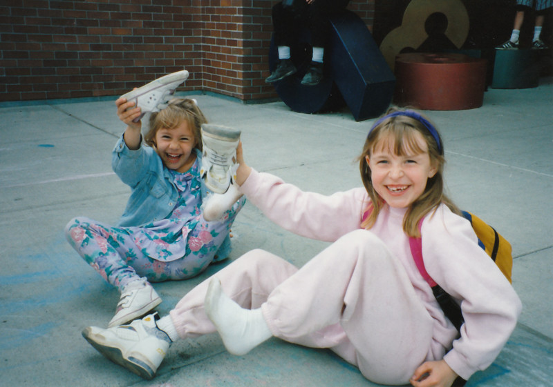 Julie Anderson and Jin on their last day of Kindergarten/first grade ~ June 6, 1995