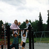 Jin, Nicole Soiseth, Tawny Meyers & two little eskimo girls I don't know ~ Last day of first grade ~ Bowman Elementary ~ Anchorage, Alaska ~ June 6, 1995