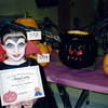 Jin ~ Second grade ~ Tombaugh Elementary ~ Won Spookiest pumpkin! ~ October 1995