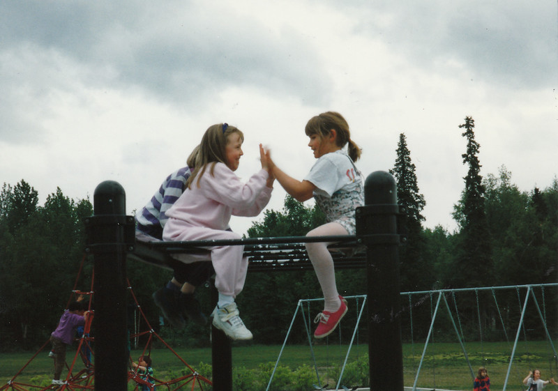 Jin & Tawny Meyers ~ Last day of first grade ~ Bowman Elementary ~ Anchorage, Alaska ~ June 6, 1995