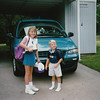 Jin ~ first day of third grade, Ry ~ first day of kindergarten ~ Bethel Manor Elementary ~ Hampton, Virginia ~ September 1996