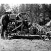 [Charlie Garlick's Homemade Tractor, around 1915]